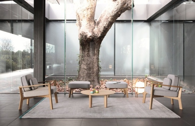 arredamento salotto moderno sistemato giardino inverno