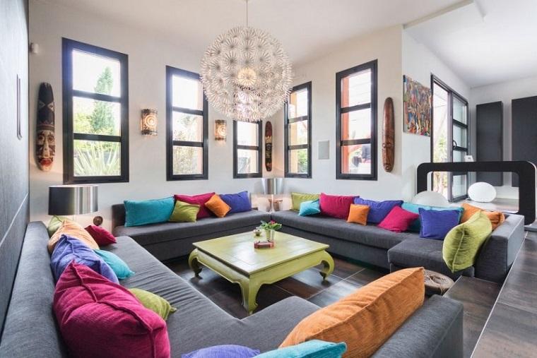 Awesome Soggiorni Colorati Contemporary - Modern Design Ideas ...