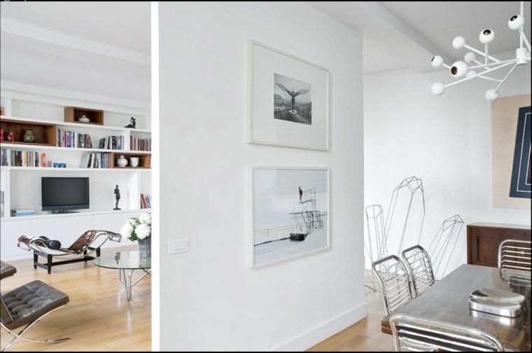 Parete divisoria per un soggiorno alla moda e di design - Parete divisoria in cartongesso ...