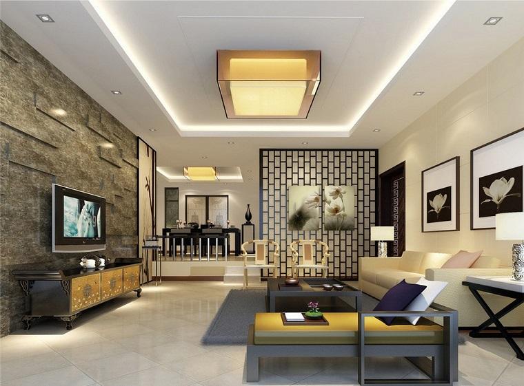 Parete divisoria per un soggiorno alla moda e di design - Arredamento parete soggiorno ...