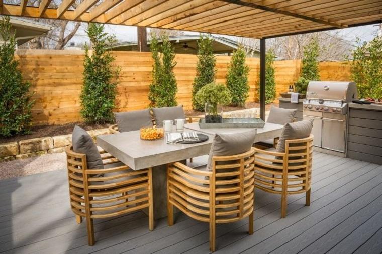 arredare il terrazzo con mobili moderni per un outdoor da