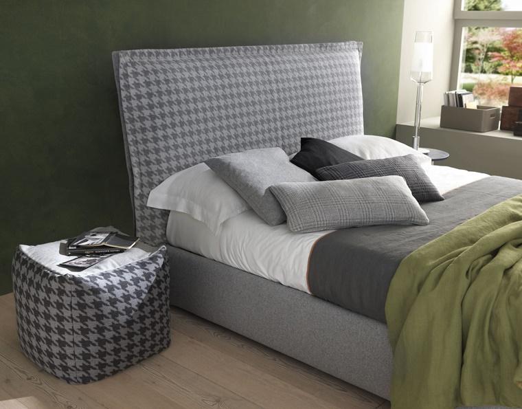arredare camera da letto mobili realizzati tessuto