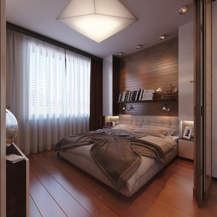 arredare camera da letto pannello legno