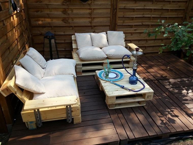 arredare casa outdoor mobili pallet