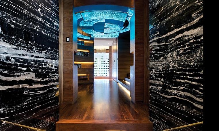 arredare corridoio stile minimal colori scuri