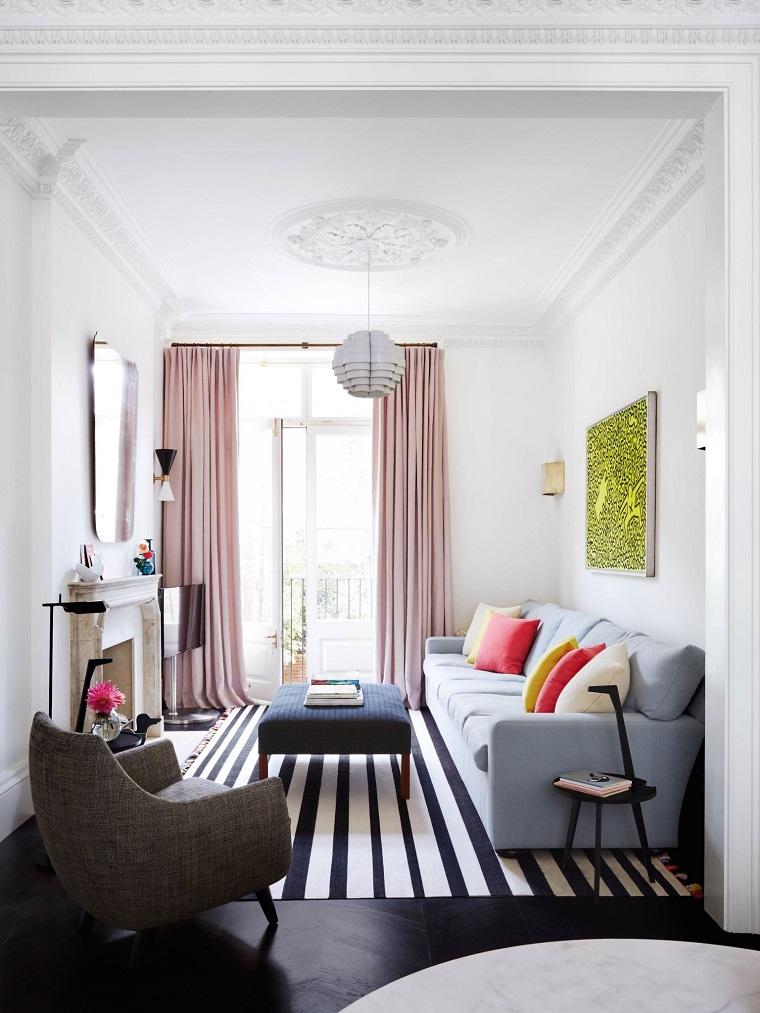 arredare il soggiorno dimensioni ridotte design accogliente