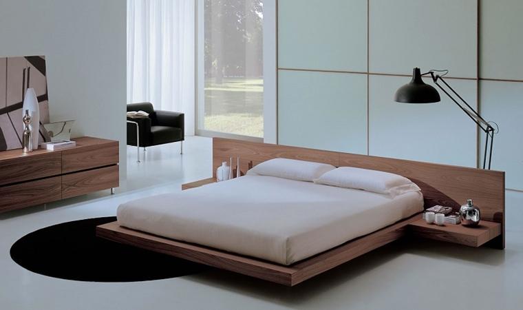 arredare la camera da letto letto flottante