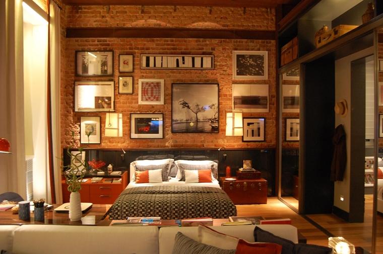 arredare la camera da letto stile industriale patere muratura