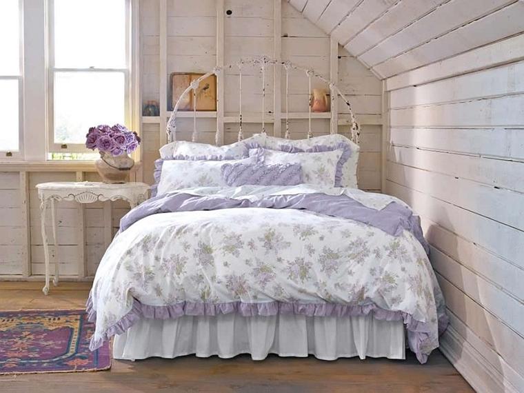 arredare la camera da letto stile shabby chic letto ferro battuto