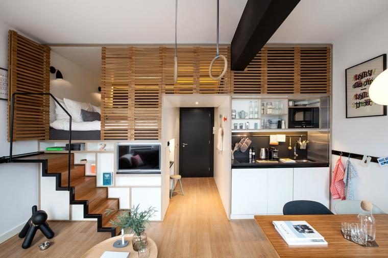 Arredare monolocale con piccoli trucchi sfruttando ogni spazio for Decoracion apartamento tipo estudio