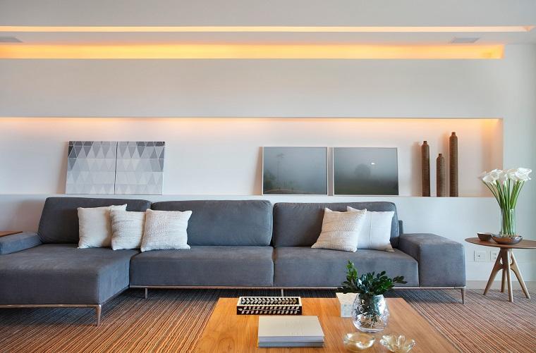 Arredare salotto in stile moderno con idee e suggerimenti di design - Illuminazione casa moderna ...