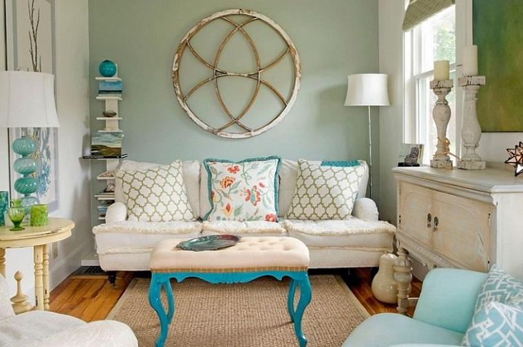 arredare soggiorno piccolo stile eclettico