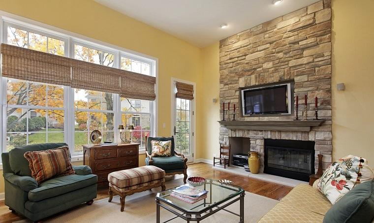 Parete attrezzata con camino e tv 18 modi per arredare il for Arredare parete soggiorno