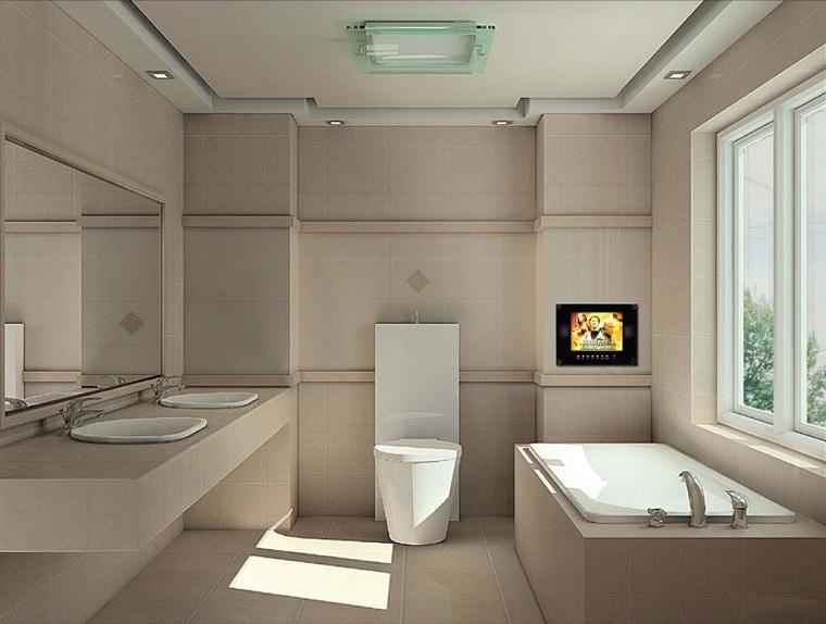 arredo bagno moderno televisore incorporato