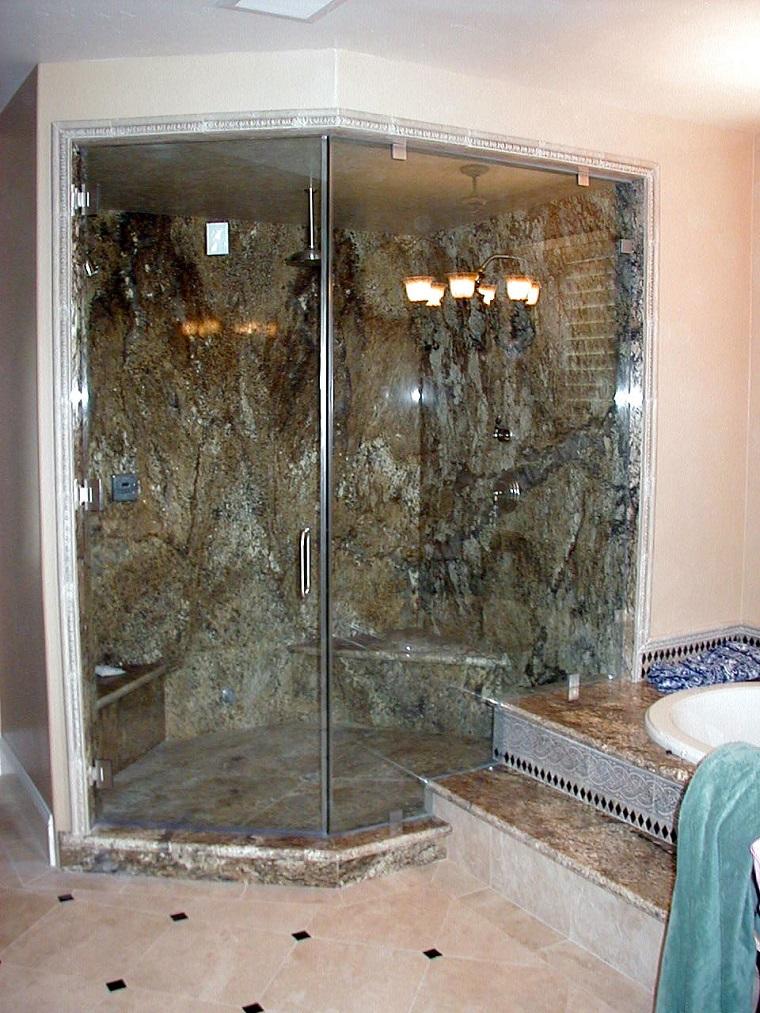 arredo bagno pareti doccia muratura