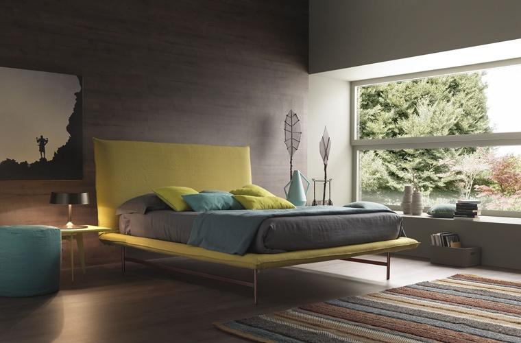 arredo camera da letto accenti colore giallo