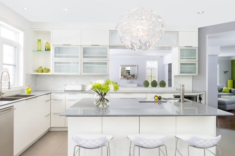 arredo cucina bianca laccata design moderno