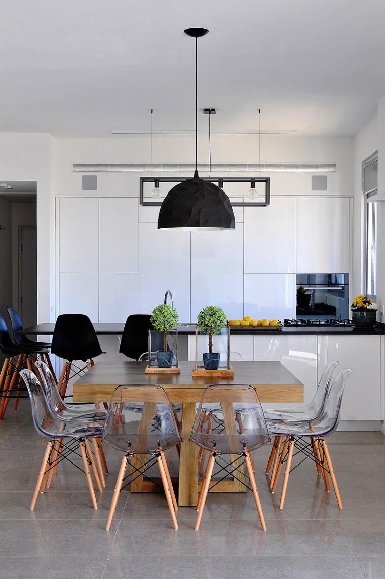Arredo cucina in bianco e dal design moderno una scelta for Tavolo cucina moderno bianco