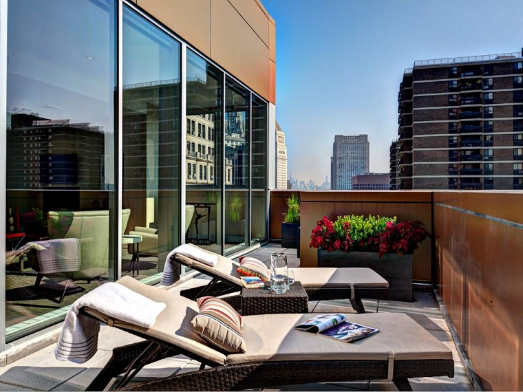 arredo terrazzo moderno prendisole legno