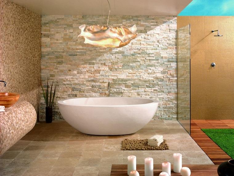 bagni in muratura esempio vasca moderna
