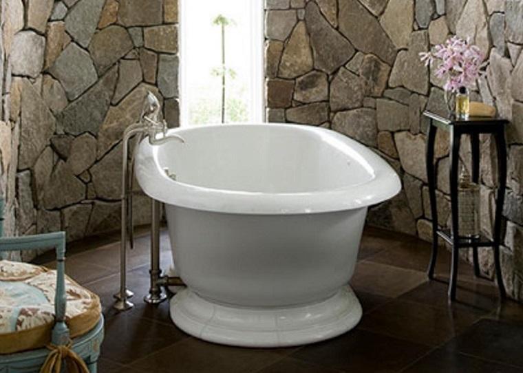 bagni in muratura vasca centrale