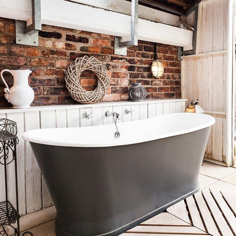 bagni in muratura vasca grigia
