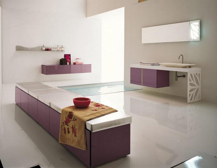 bagni moderni soluzione colorata spa
