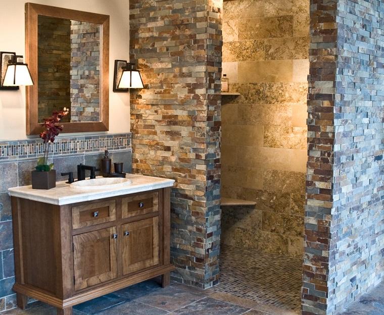 Bagni in muratura 24 idee imperdibili per arredare con un tocco rustico - Mobile bagno rustico ...