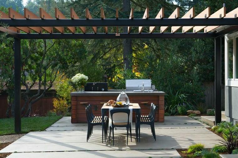barbecue in muratura originale moderno particolare