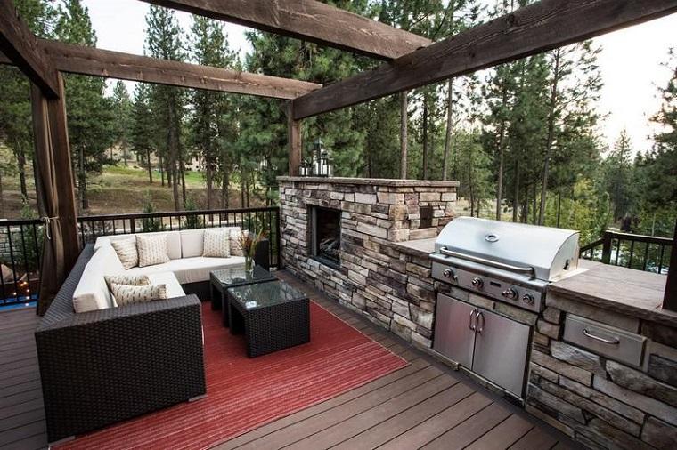 barbecue muratura idea mozzafiato angolo outdoor