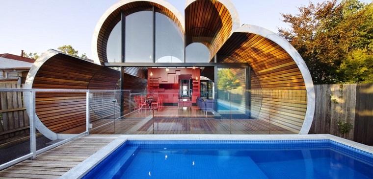 bellissima piscina interrata forma rettangolare