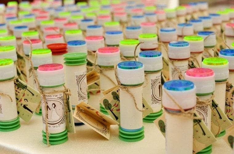 bomboniere matrimonio tubetto bolle sapone colorate