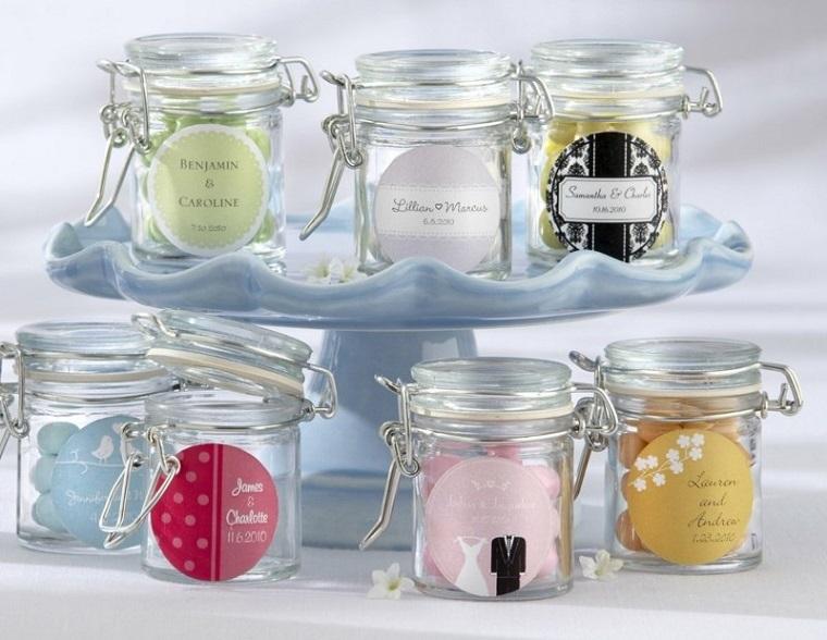 bomboniere matrimonio vasetti vetro candele colorate