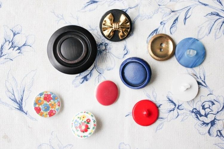 bottoni colorati vivaci idee decorative originali