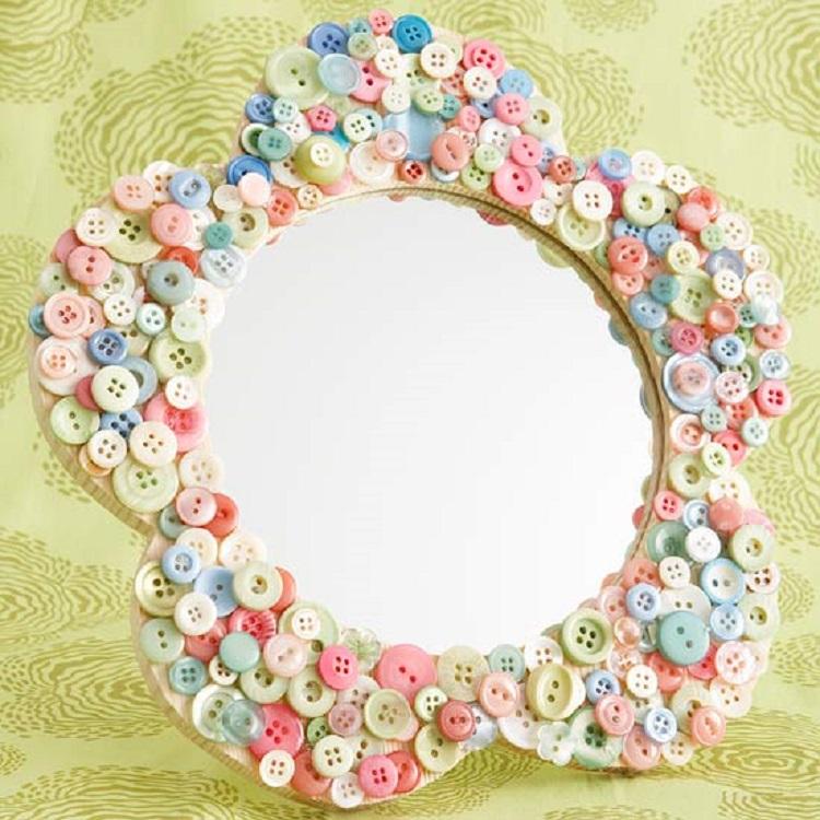 bottoni suggerimento vivace colorato decorare specchio