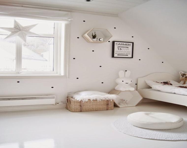 Camere da letto bianche 40 idee per la stanza dei vostri for Camera bambini design