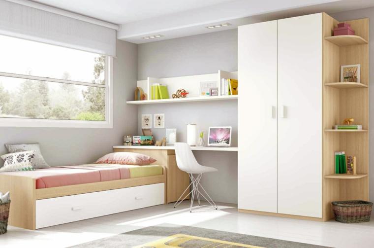 Camere da letto bianche 40 idee per la stanza dei vostri for Arredo camerette bambini originali