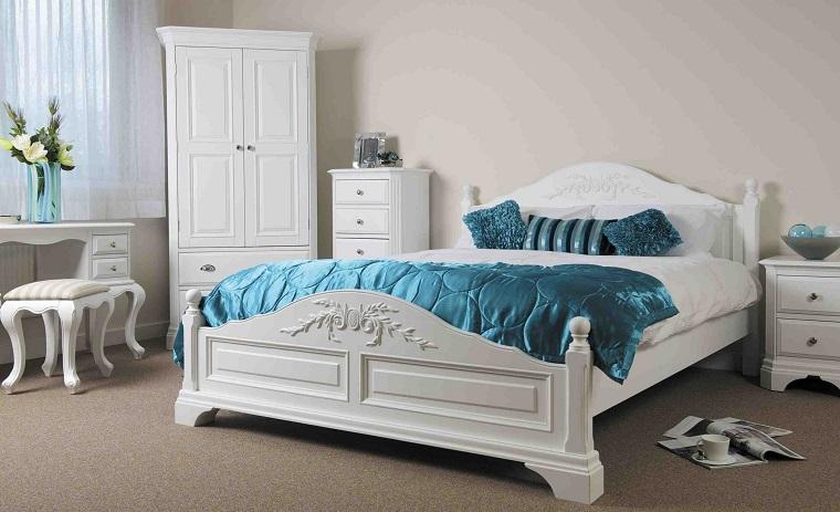 Camera da letto bianca proposte da sogno dalle tonalit candide con accenti di colore - Camera da letto nera e bianca ...