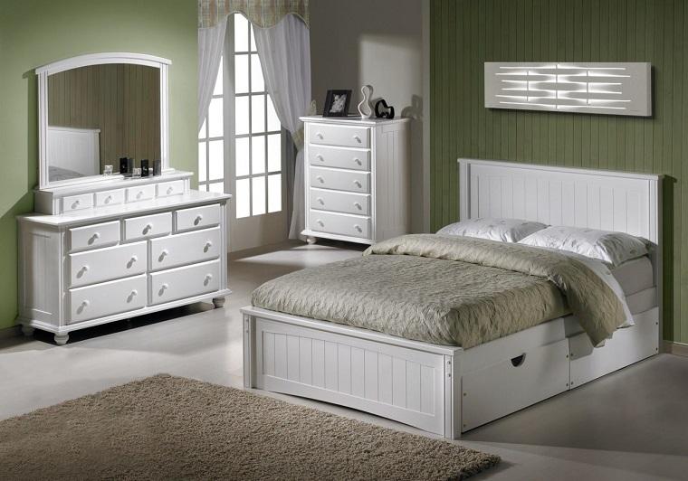 camera da letto bianca design tradizionale
