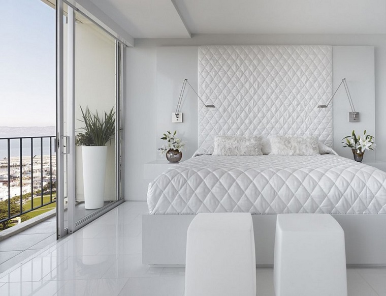 Pavimento Bianco Colore Pareti : Camera da letto bianca: proposte da sogno dalle tonalità candide con