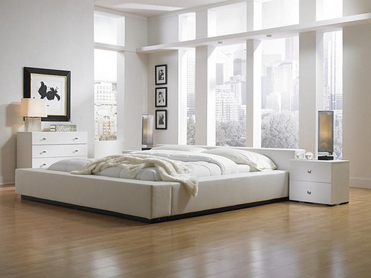 camera da letto bianca quadri cornice nera