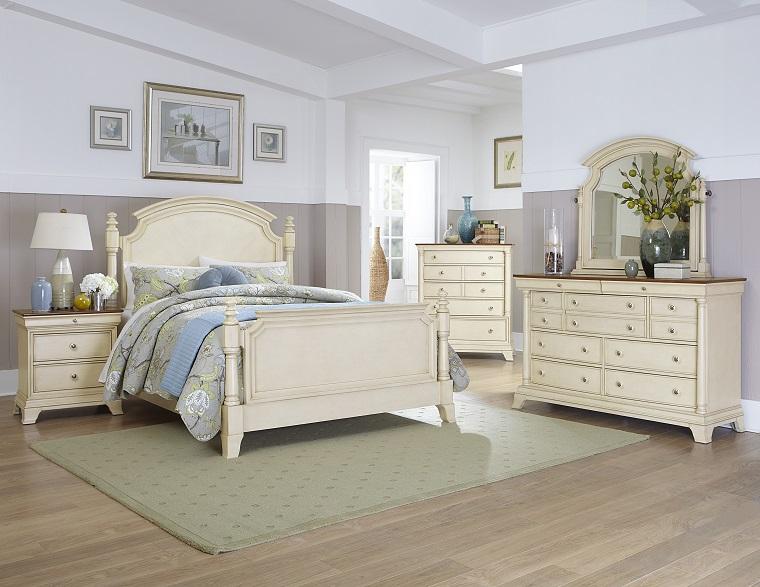 camera da letto bianca stile elegante
