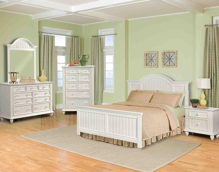 camera da letto bianca stile romantico