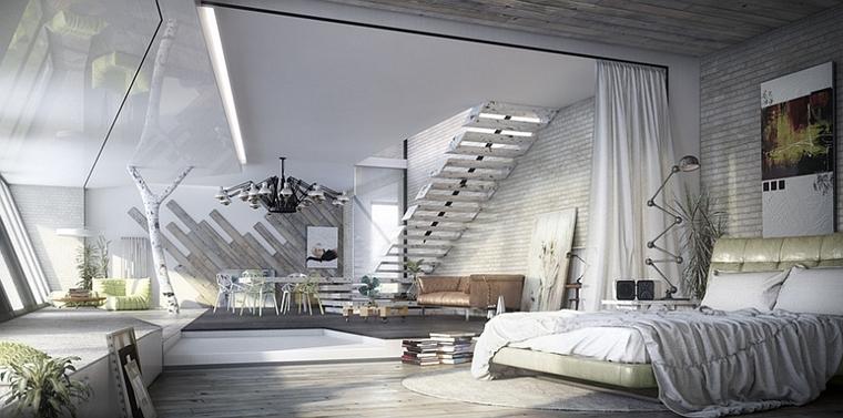 camera da letto fa parte unico ambiente open space
