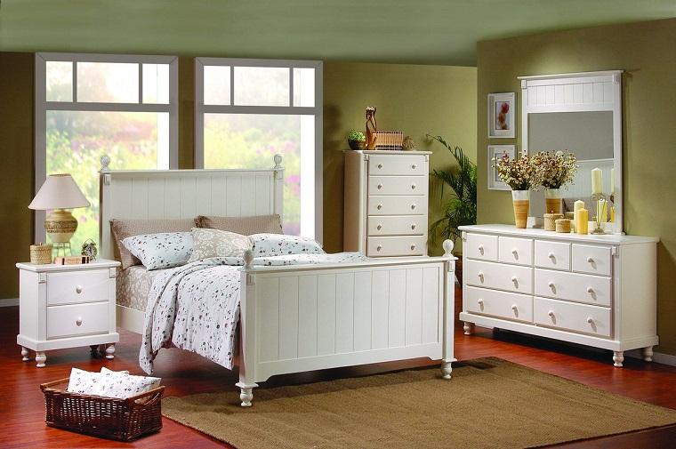 Colore Parete Camera Da Letto Verde : Camera da letto bianca proposte da sogno dalle tonalità candide