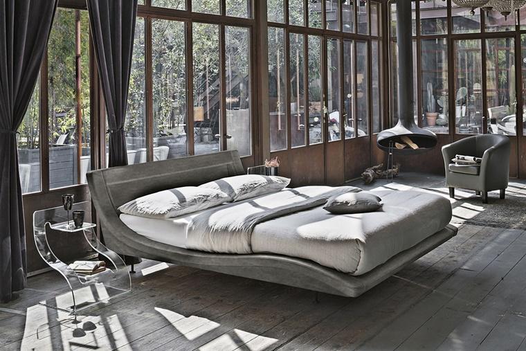 camera da letto moderna ambiente industriale
