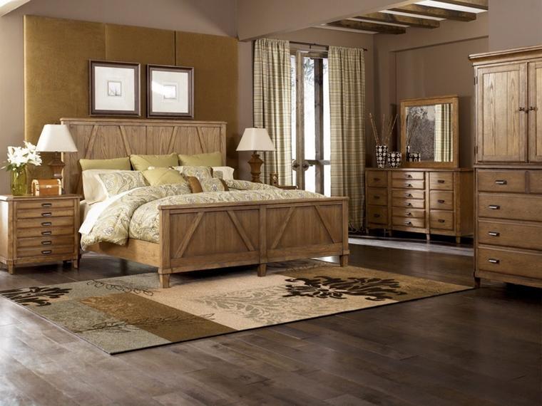 camera da letto moderna mobili legno