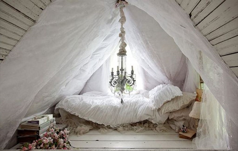 Arredare la camera da letto di design speciale in stili - Lampadario camera da letto shabby chic ...