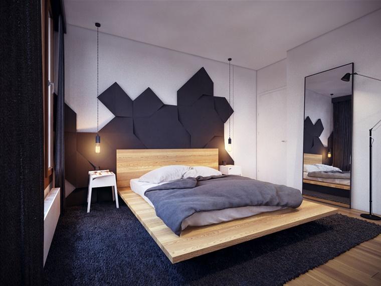 camera letto parete principale decorata