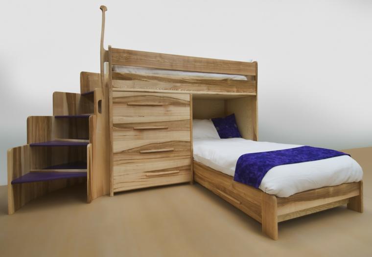 Camere da letto bianche 40 idee per la stanza dei vostri bambini - Camere da letto moderne in legno ...